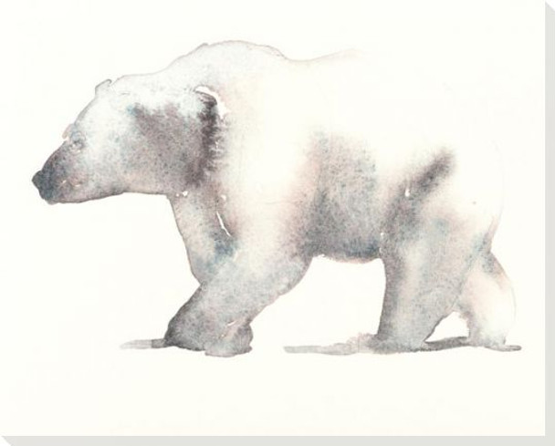 A Polar Bear Wrapped Canvas Giclee Art Print Wall Art