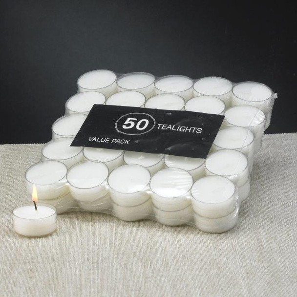 White Acrylic Cup Tea Light Candles, Set of 600