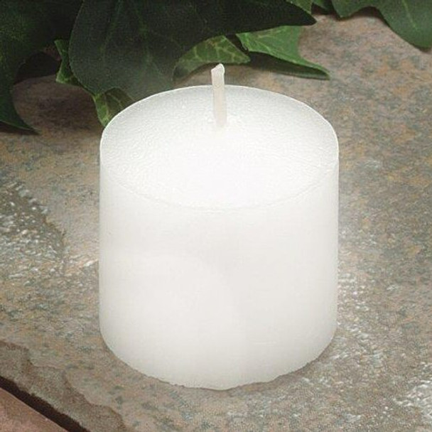 9daacd7b59b 10 Hour White Unscented Votive Candles