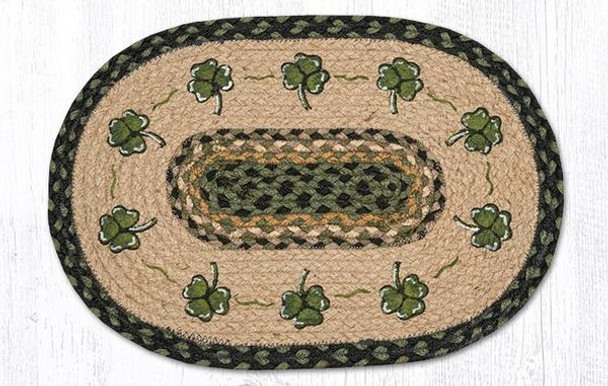 Shamrock Braided Jute Oval Placemats by Susan Burd, Set of 2