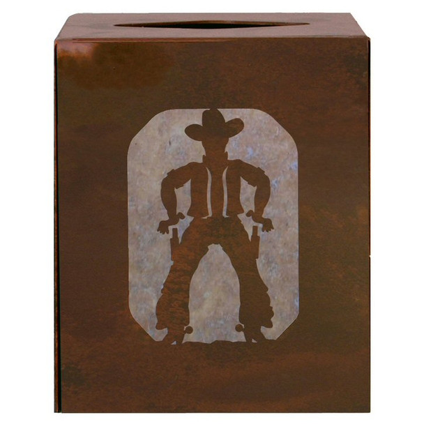 Cowboy Metal Boutique Tissue Box Cover