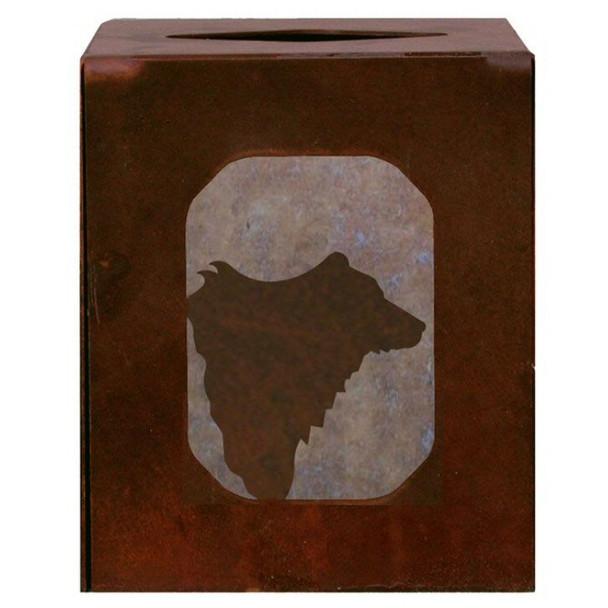 Bear Metal Boutique Tissue Box Cover
