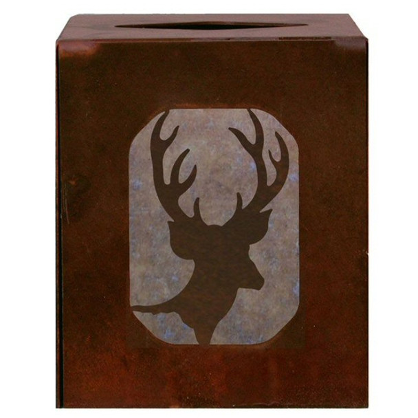 Deer Metal Boutique Tissue Box Cover