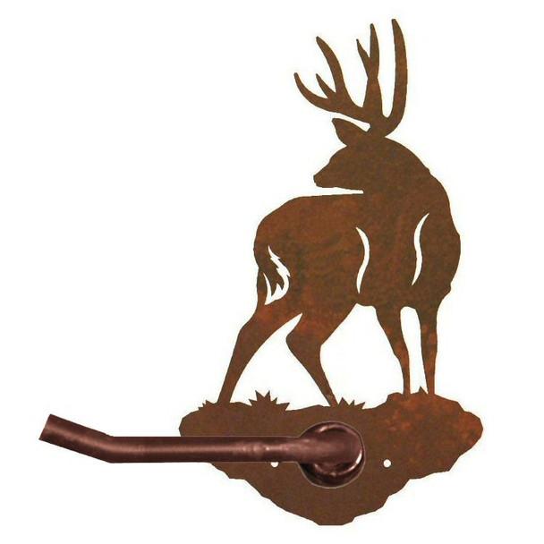 Mule Deer Metal Toilet Paper Holder