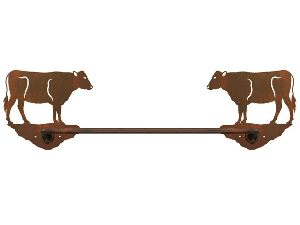 "18"" Cow Metal Towel Bar"
