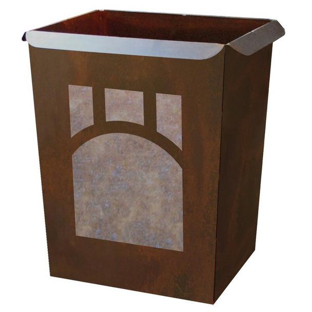 Mountain Mission Metal Wastebasket Trash Can