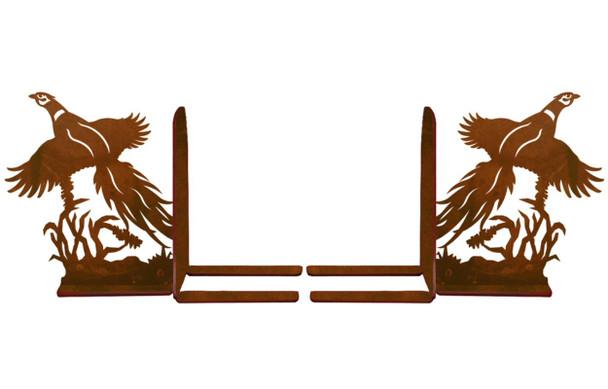 "6"" Flying Pheasants Metal Bookends"