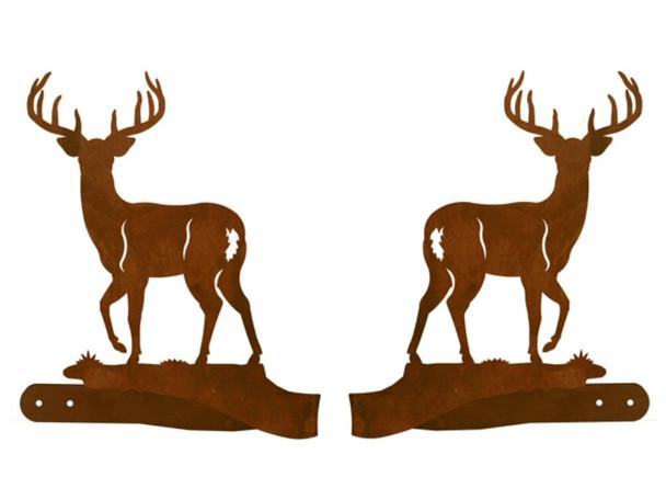 Whitetail Deer Metal Curtain Tie Backs