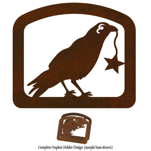 Crow Bird Metal Napkin Holder