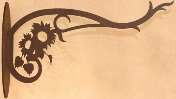Sun Flowers Metal Wall Plant Hanger
