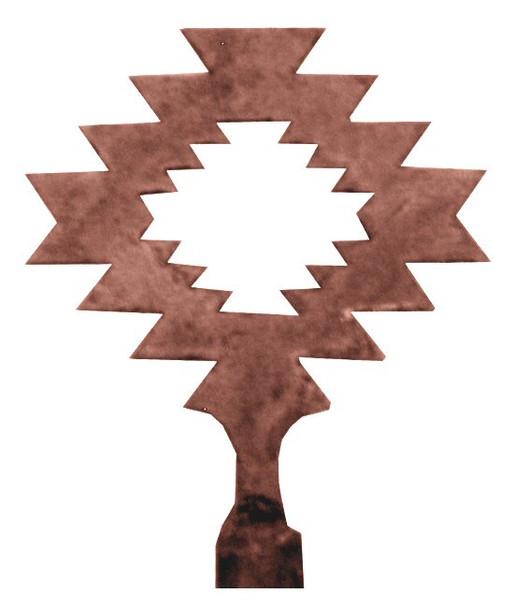 Desert Diamond Metal Lamp Finial