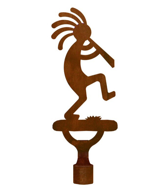 Large Kokopelli Metal Lamp Finial