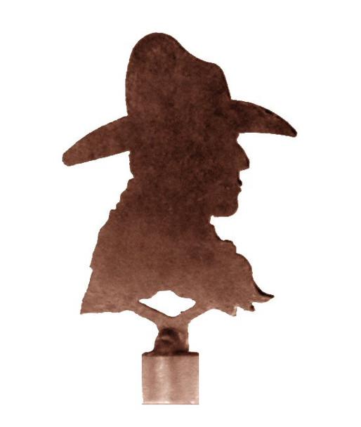 Cowboy Metal Lamp Finial