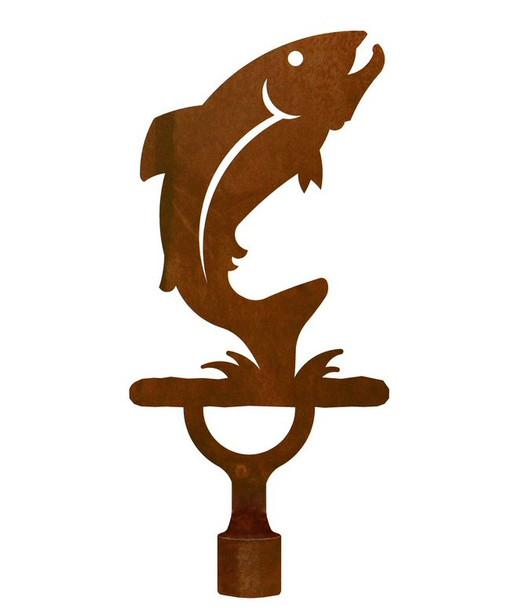 Large Trout Fish Metal Lamp Finial