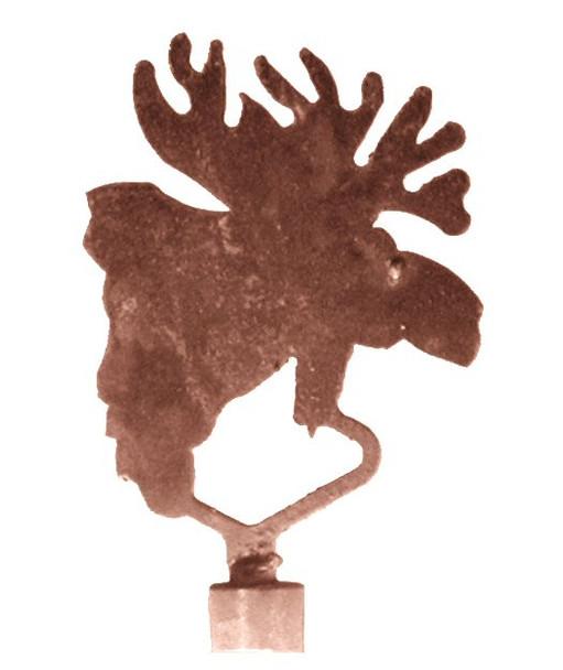 Moose Metal Lamp Finial