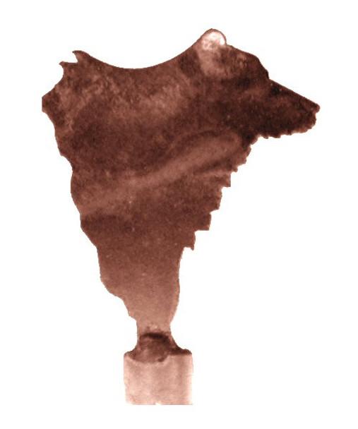 Bear Metal Lamp Finial