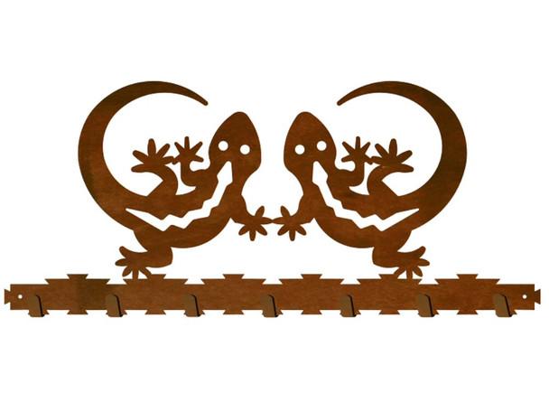 Gecko Lizard Metal Wall Key Rack
