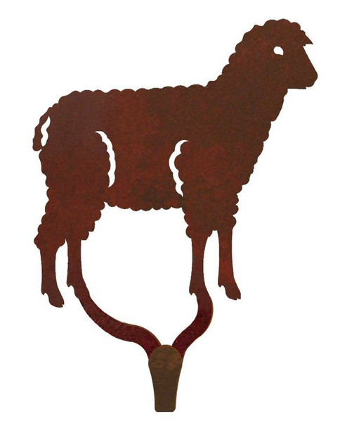 Sheep Large Single Metal Wall Hook