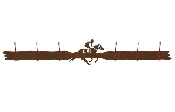 Derby Horse Racer Six Hook Metal Wall Coat Rack