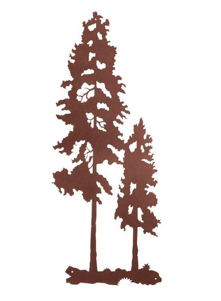"40"" Lodge Poles Tree Metal Wall Art"