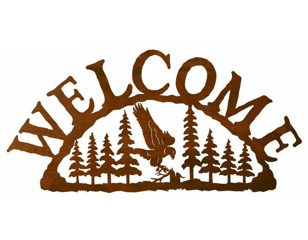 Flying Eagle Bird Metal Welcome Sign