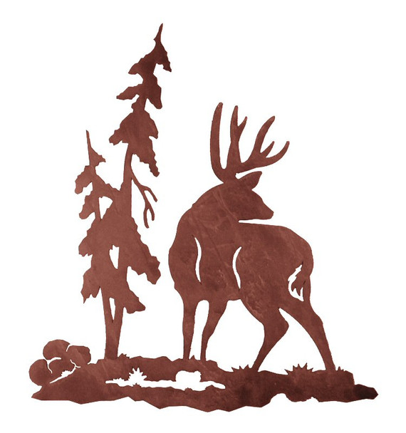 """30"""" Deer Metal Wall Art"""