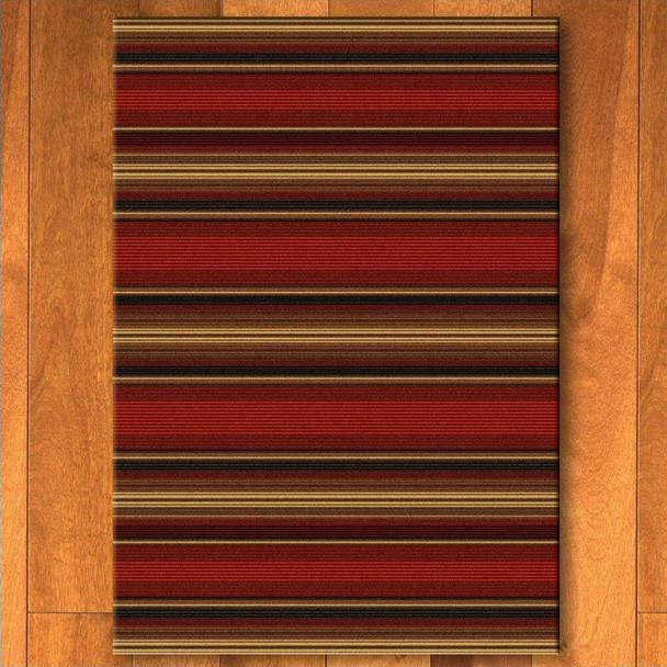 4' x 5' Santa Fe Stripe Southwest Rectangle Rug