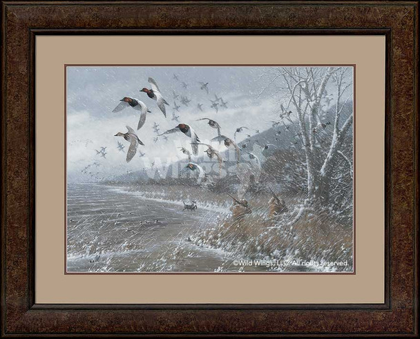 Armistice Day Hunt Flying Ducks Framed Art Print Wall Art