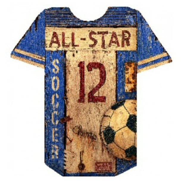the best attitude 195e9 81689 Custom Soccer Jersey Vintage Style Metal Sign