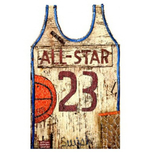 b241a5b1107d Custom Basketball Jersey Vintage Style Metal Sign - Personalized ...