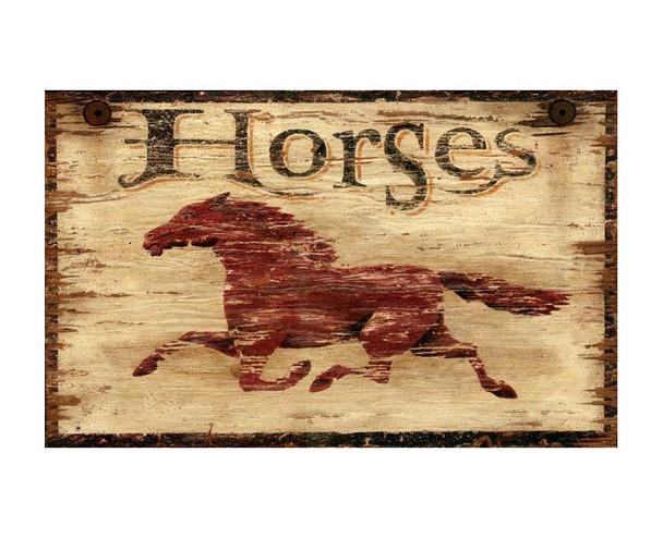 Custom Horses Vintage Style Metal Sign