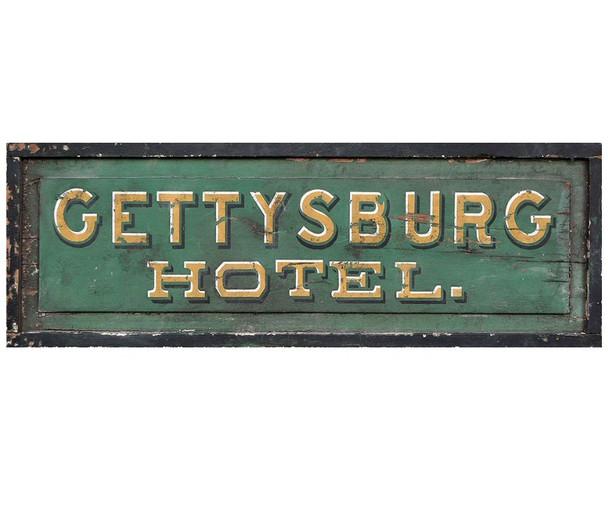 Custom Gettysburg Hotel Vintage Style Wooden Sign