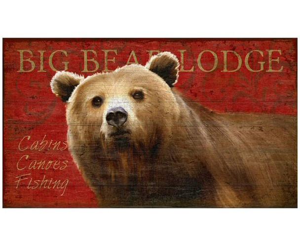Custom Big Bear Lodge Vintage Style Wooden Sign