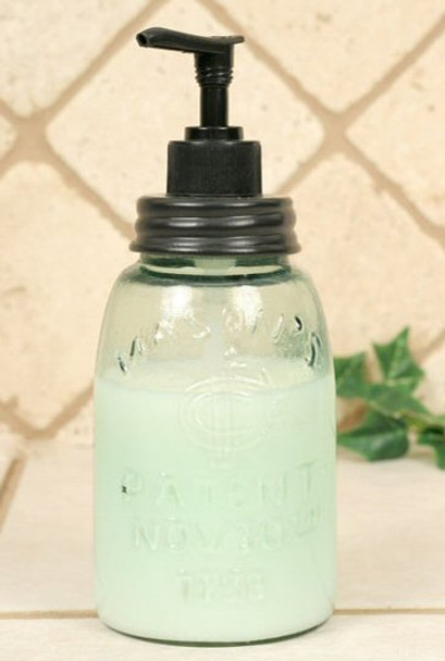 Midget Pint Mason Jar Soap Lotion Dispenser