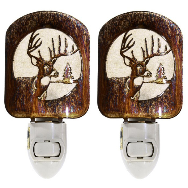 Johnson Buck Metal Night Lights, Set of 2