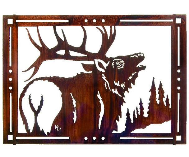 """24"""" Elks Song Framed Metal Wall Art by Kathryn Darling"""