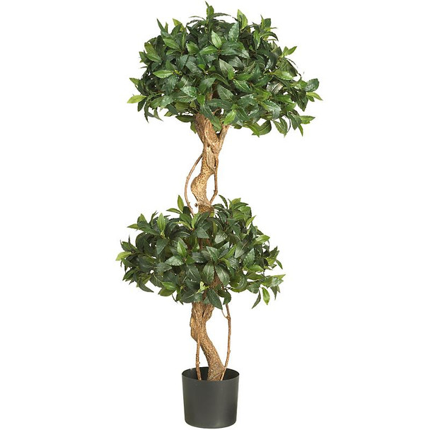 4' Sweet Bay Double Ball Topiary Silk Tree