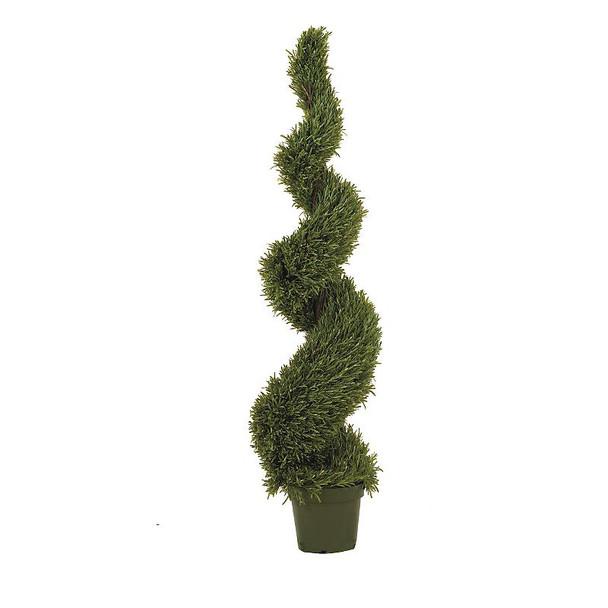 5' Rosemary Spiral Silk Tree, Indoor Outdoor