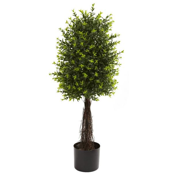 35'' Ixora Topiary Silk Tree UV Resistant Indoor Outdoor