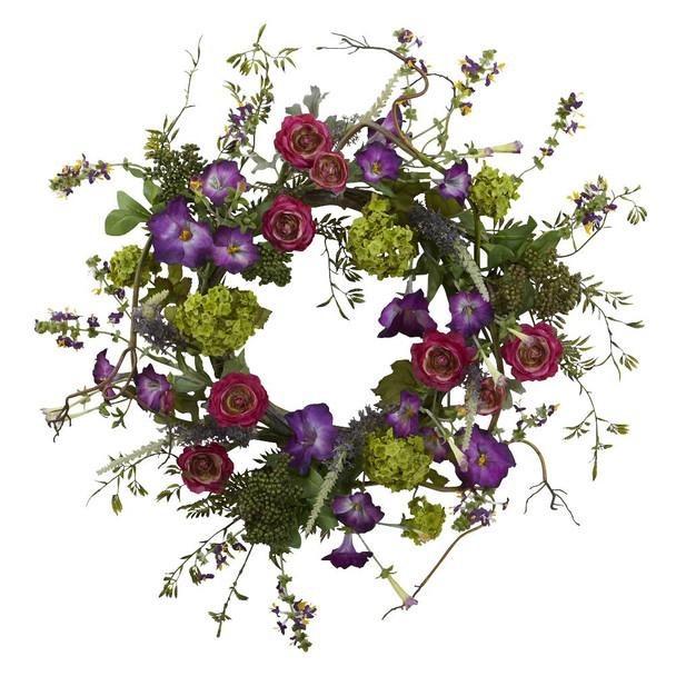 "20"" Veranda Garden Silk Wreath"