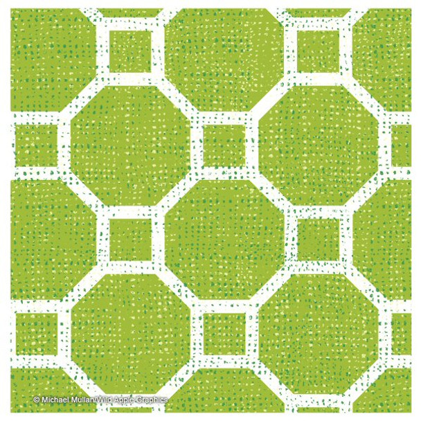 Bright Lattice Beverage Coasters by Michael Mullan, Set of 12