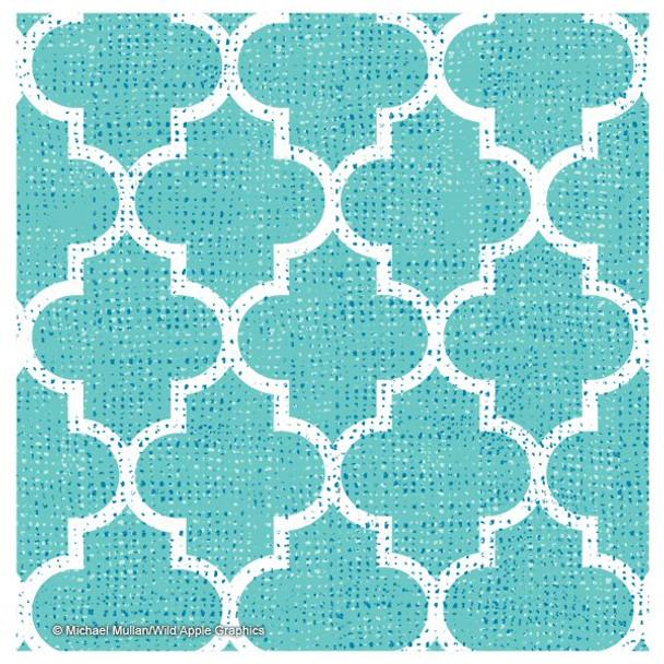 Bright Lattice Tile III Coasters by Michael Mullan, Set of 12