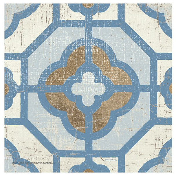 Blue Shanghai Tile Beverage Coasters by Morgan Yamada, Set of 12