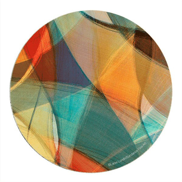 Aura Sandstone Round Beverage Coasters by Lanie Loreth, Set of 8