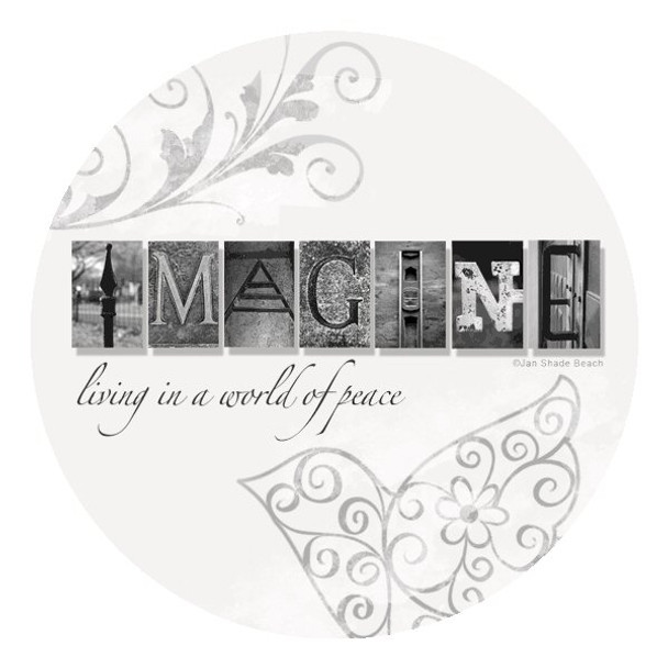 Imagine Absorbent Beverage Coasters by Jan Shade Beach, Set of 8