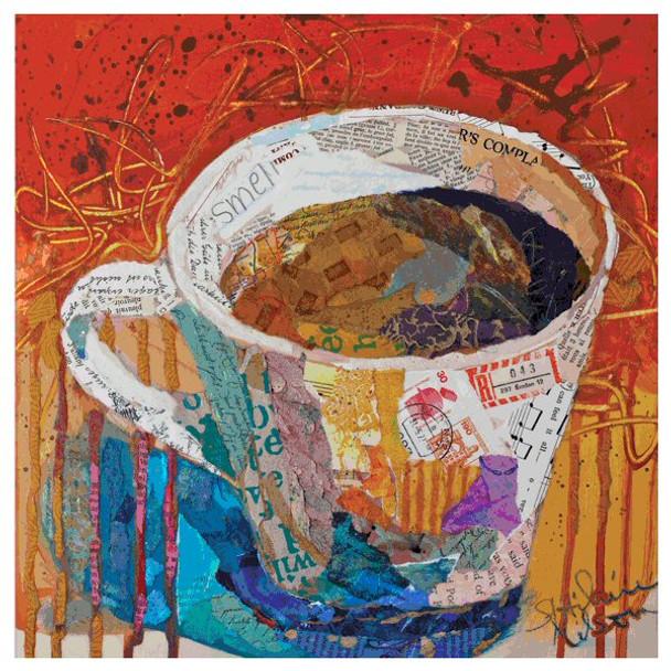 Coffee Talk II Coasters by Elizabeth St. Hilaire Nelson, Set of 12