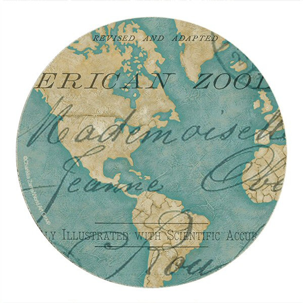 World Travels Sandstone Round Beverage Coasters, Set of 8