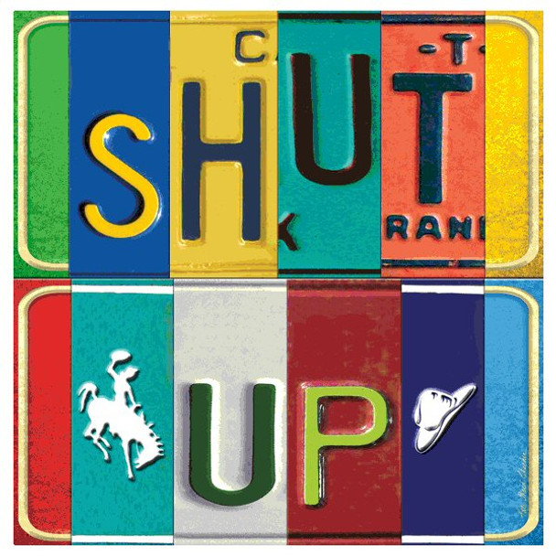 Shut Up Absorbent Beverage Coasters by Kate Ward Thacker, Set of 12