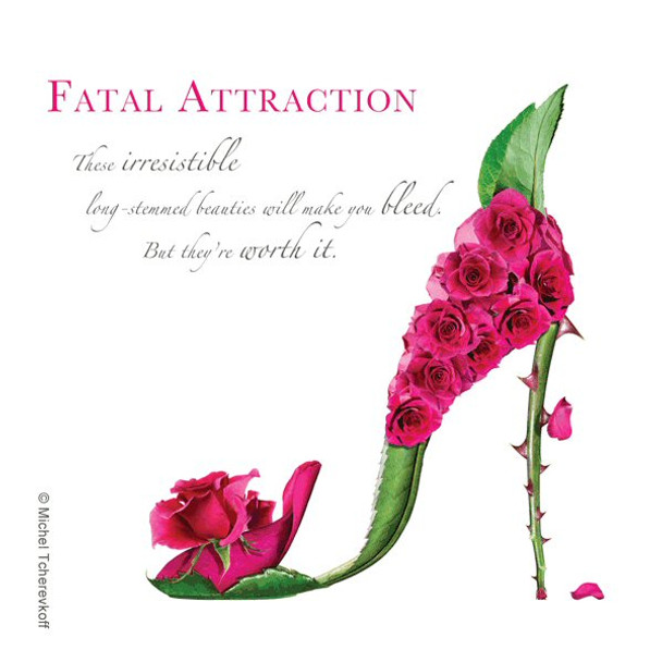 Fatal Attraction Beverage Coasters by Michael Tcherevkoff, Set of 12