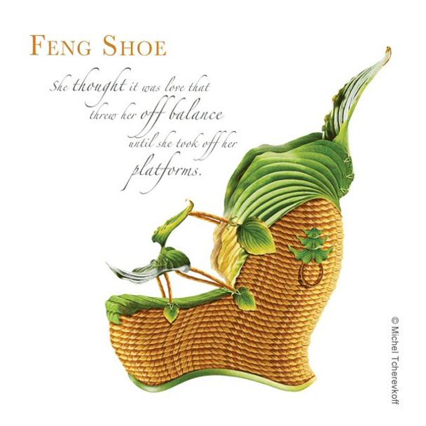 Feng Shoe Beverage Coasters by Michael Tcherevkoff, Set of 12